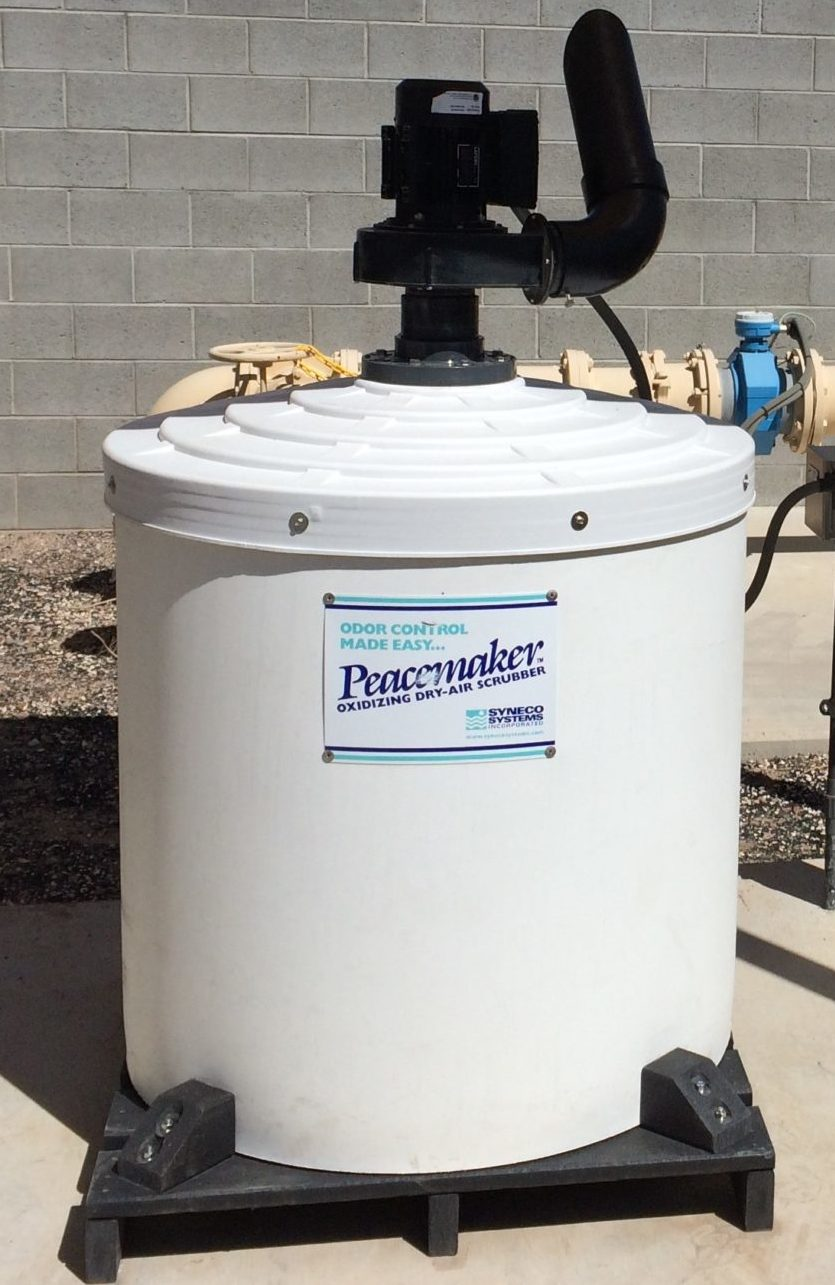 Oxidizing Dry Air Scrubbers odors h2s hydrogen sulfide wastewater treat